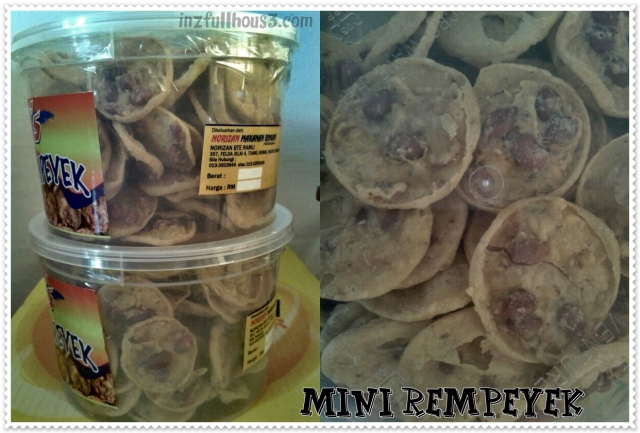 Mini Rempeyek RM 18.00 / sebalang (500 grams)